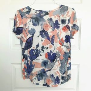Zara Tops - Zara Watercolor High Low Tee